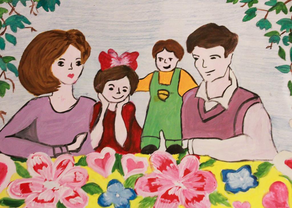открытка на конкурс моя семья аквариума