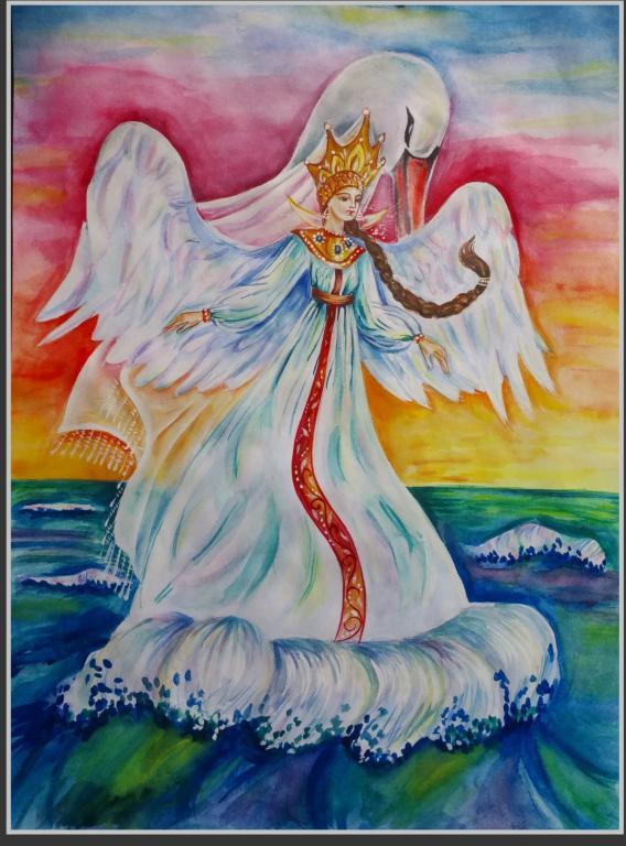 царевна лебедь пушкина картинки для проходит