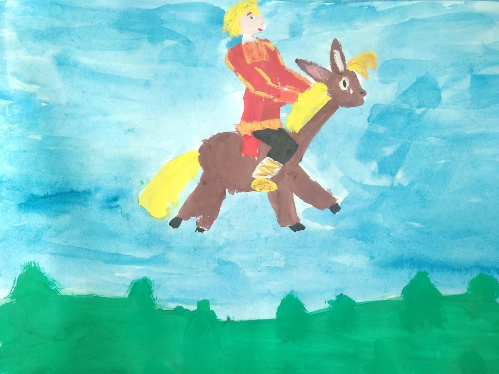 Детские рисунки конек горбунок