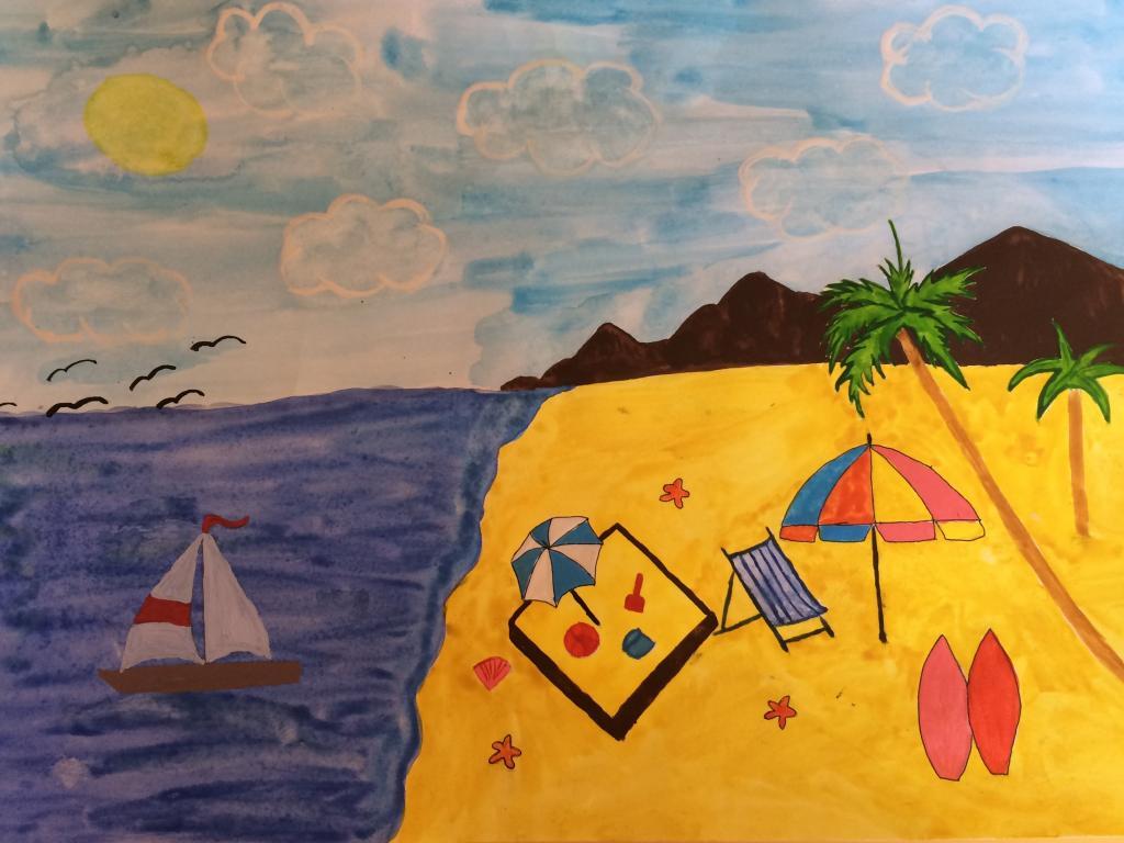 рисунки как я провела лето знаменитости
