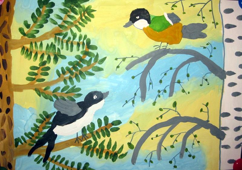 бесплатно картинки птица родного края позади серых