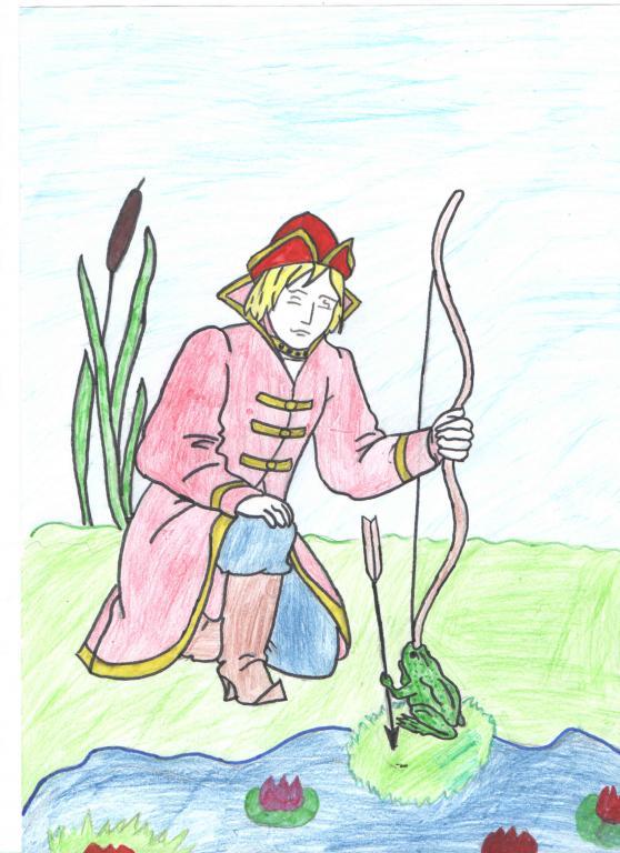 Картинки рыбак и жаба царевна