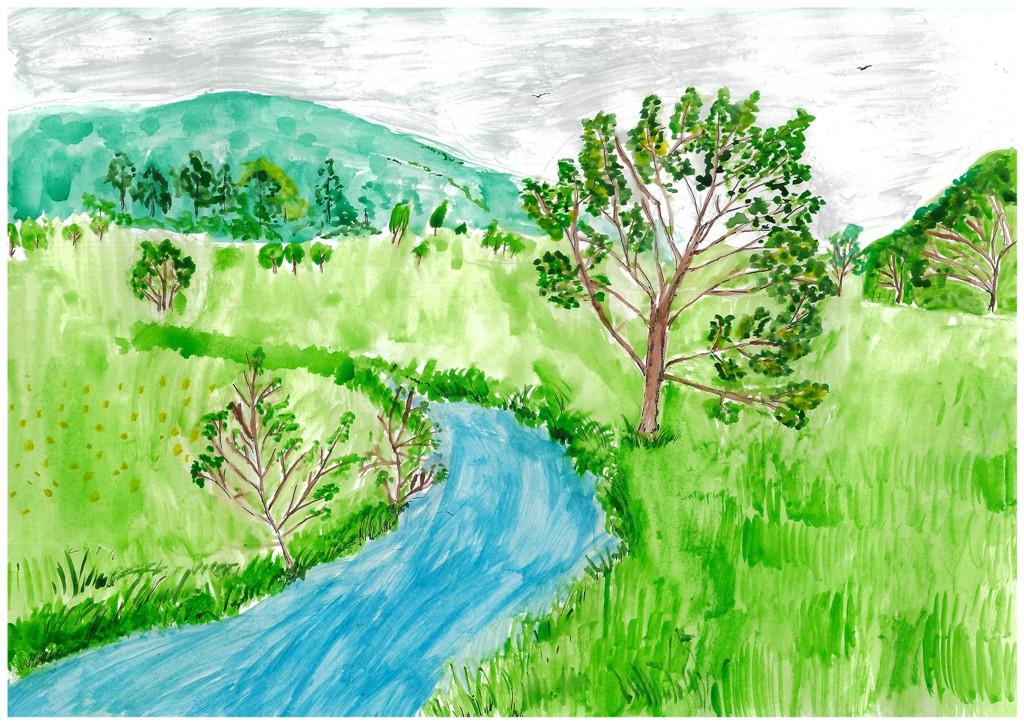 что нарисовать рисунок про природу родного края ткани художника будут