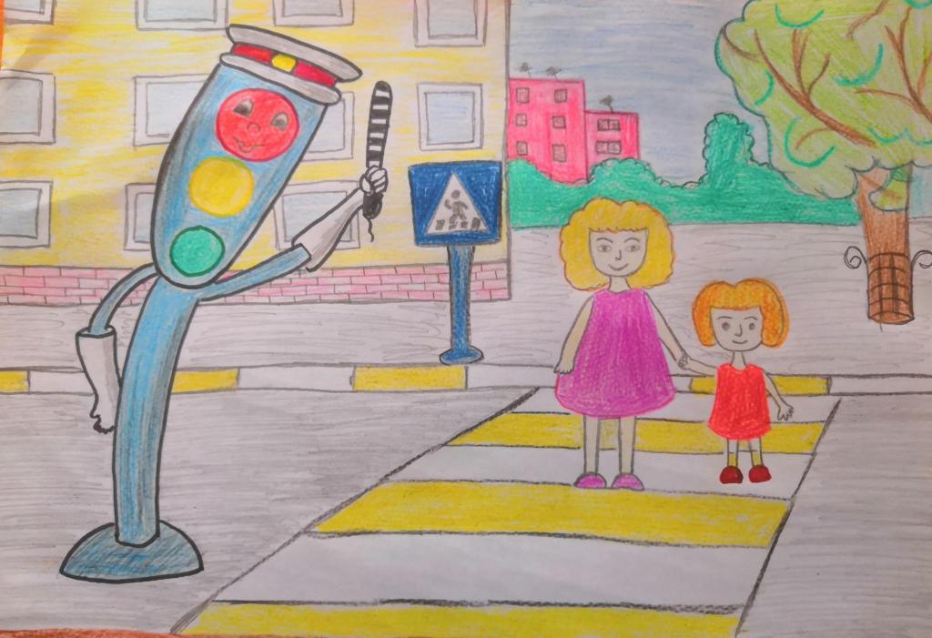 Детский картинки по правилам дорожного движения