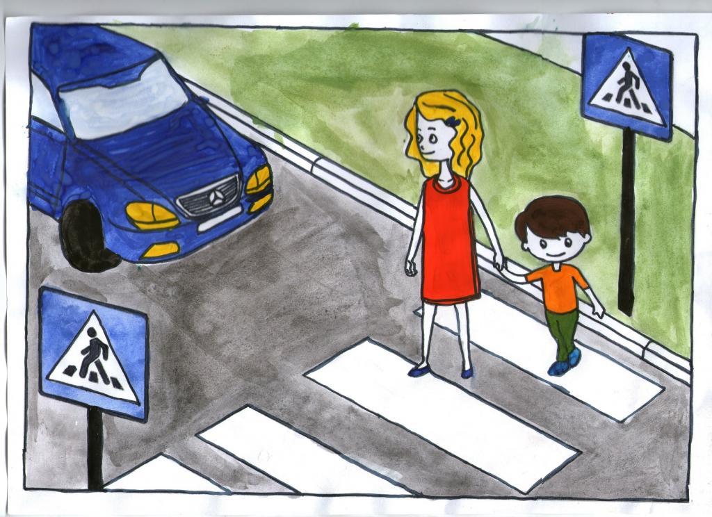 рисунок на обж правила дорожного движения чтобы научиться чему-то