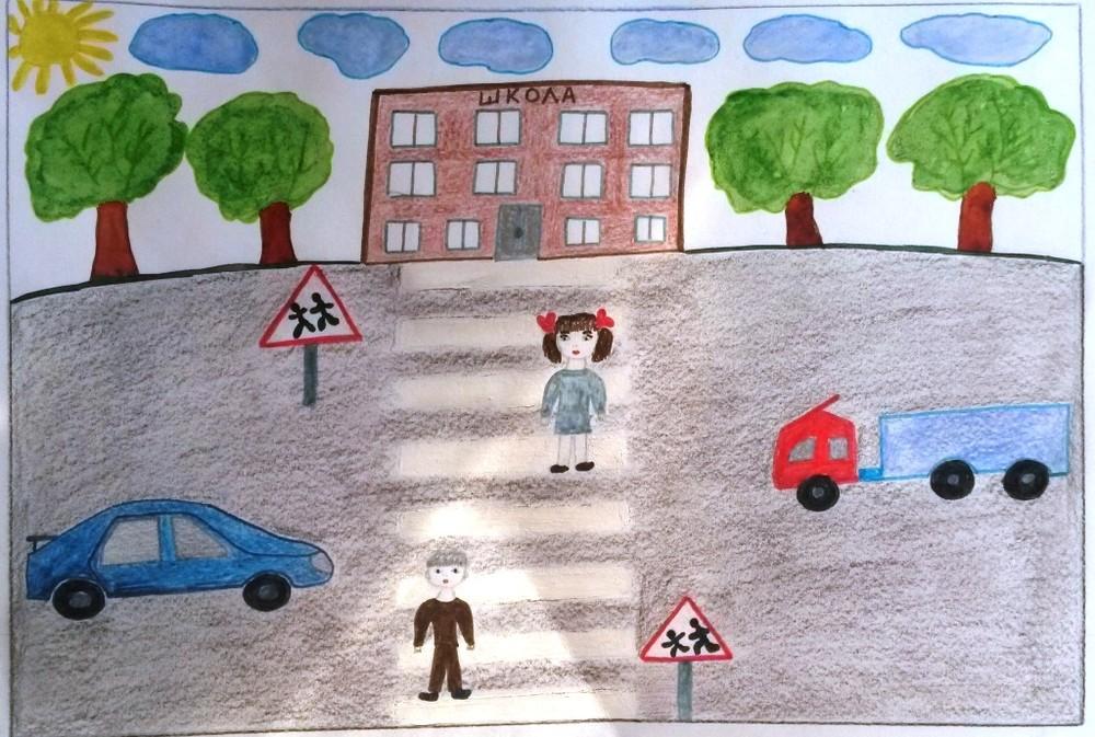 Картинки на правила дорожного движения для детей нарисовать поэтапно