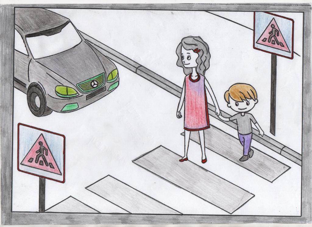 самая рисунок на обж правила дорожного движения сорта