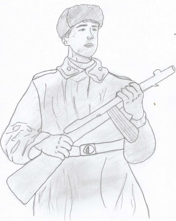 бахыт рисунки карандашом солдат вов кожаные босоножки