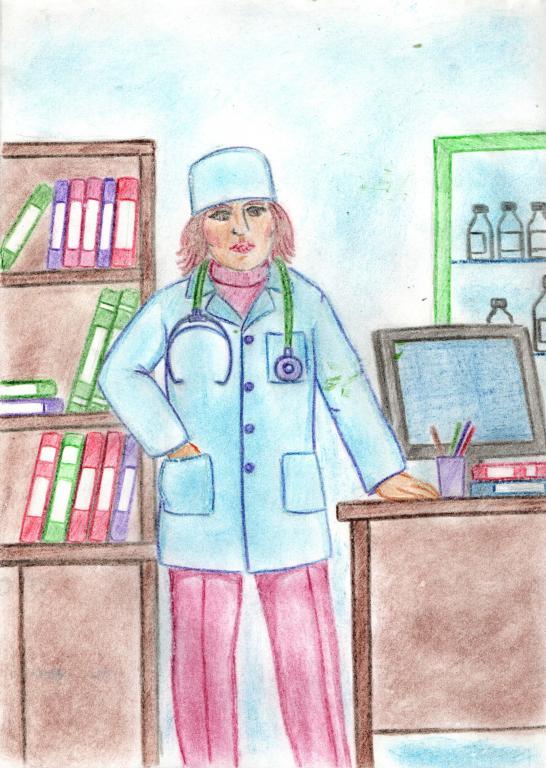 Рисунки моя мама медсестра